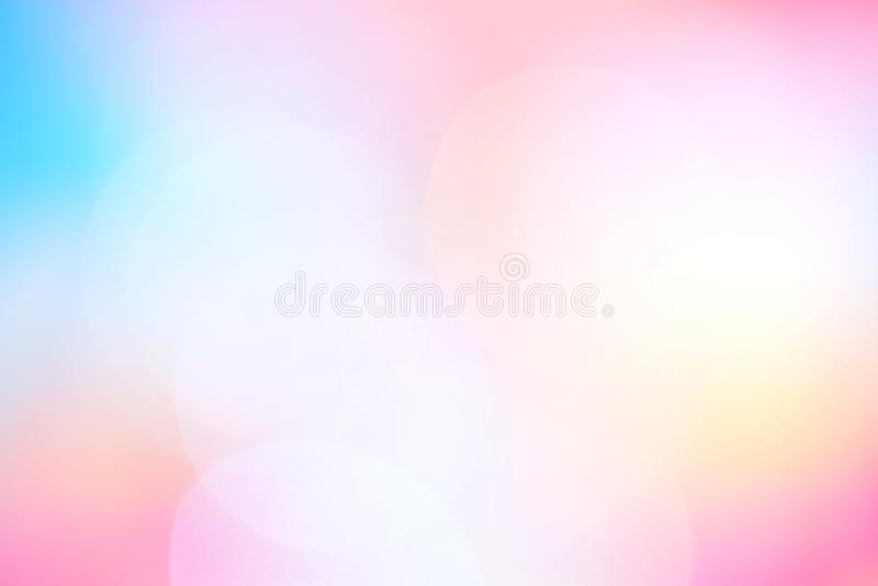 Suddiga mjuka rosa färger slösar för skuggabokeh för lutningen färgrik ljus bakgrund, abstrakt pastellfärgad mjuk rosa färg, och  stock illustrationer