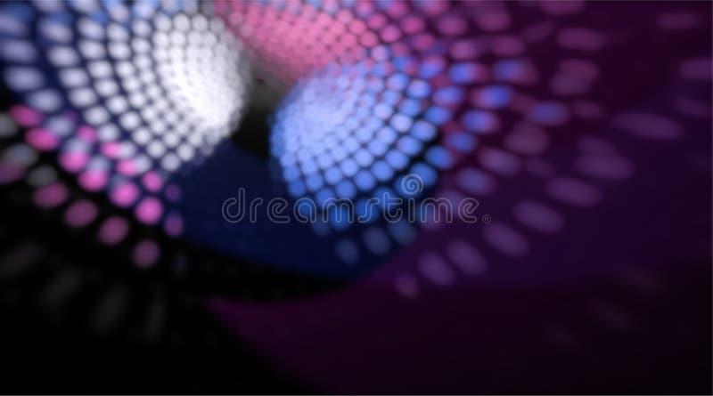 Suddiga och defocused ljusa reflexioner från disko klumpa ihop sig i bakgrund royaltyfria bilder