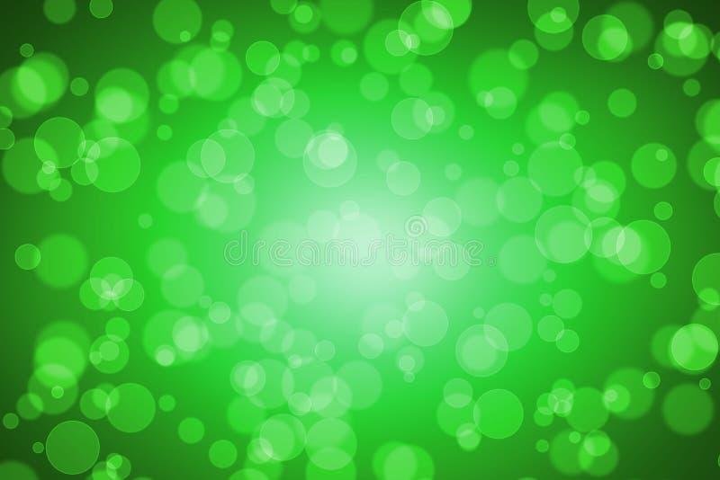 Suddighet Bokeh för grön färg för bakgrund vektor illustrationer