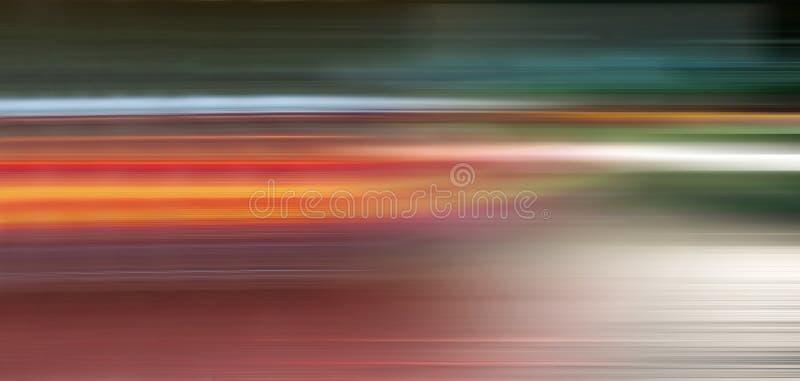 suddighet r?relse Oskarpa ljus av att rusa bilar i nattstaden Ð-¡ oncept av snabb körning vektor illustrationer