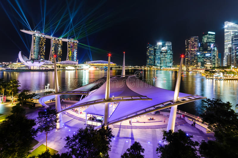 Suddighetsbild av den Singapore staden royaltyfria bilder