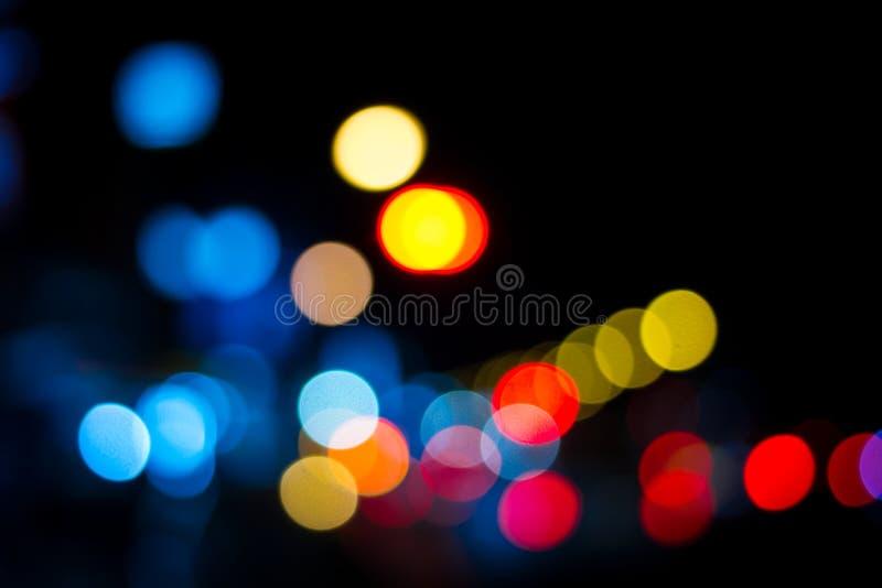 Suddighetsfokusljus i många färg. royaltyfria bilder