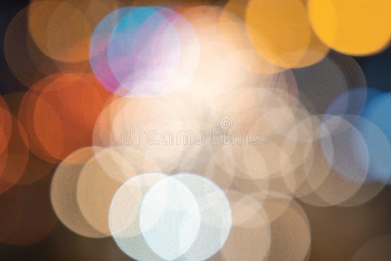 Suddigt abstrakt begrepp för bokehljusbakgrund royaltyfri fotografi