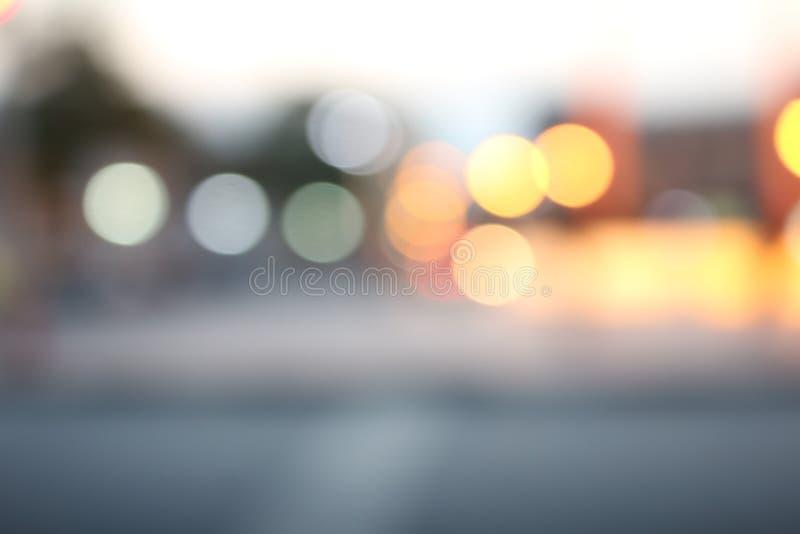 Suddigt av gatan arkivfoto