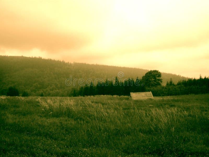 Sudety Landschaft stockfotografie