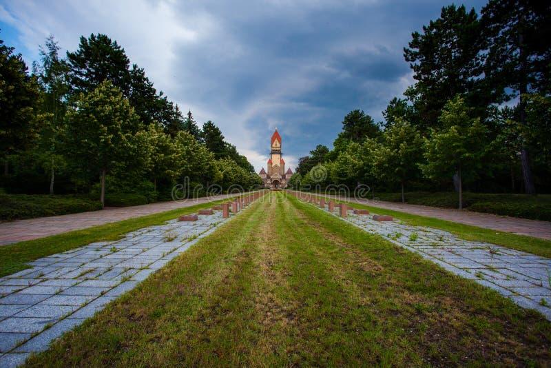 Sudfriedhof den största kyrkogården i Leipzig, Tyskland royaltyfria bilder