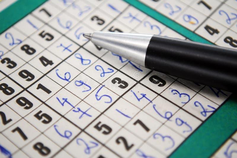 Sudoku stock afbeelding