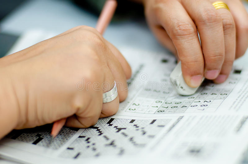 Sudoku 免版税库存图片