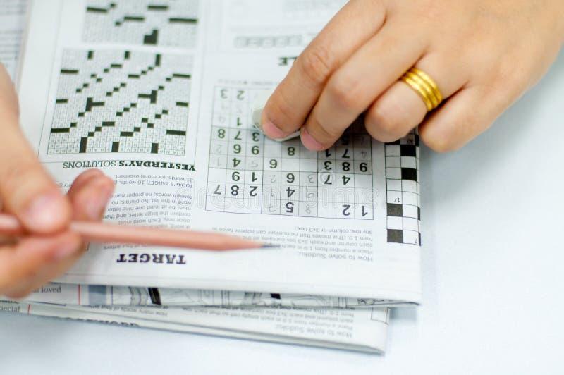 Sudoku royalty-vrije stock foto's