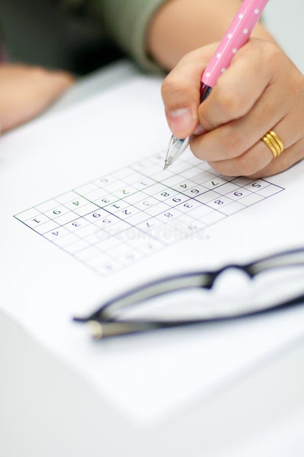 Sudoku 免版税库存照片
