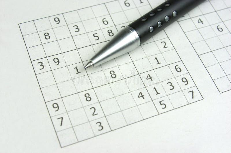 Download Sudoku стоковое фото. изображение насчитывающей пер, игра - 33728088
