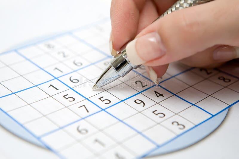 Sudoku fotografía de archivo libre de regalías