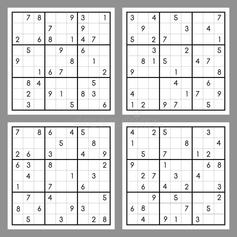 Sudoku illustration stock