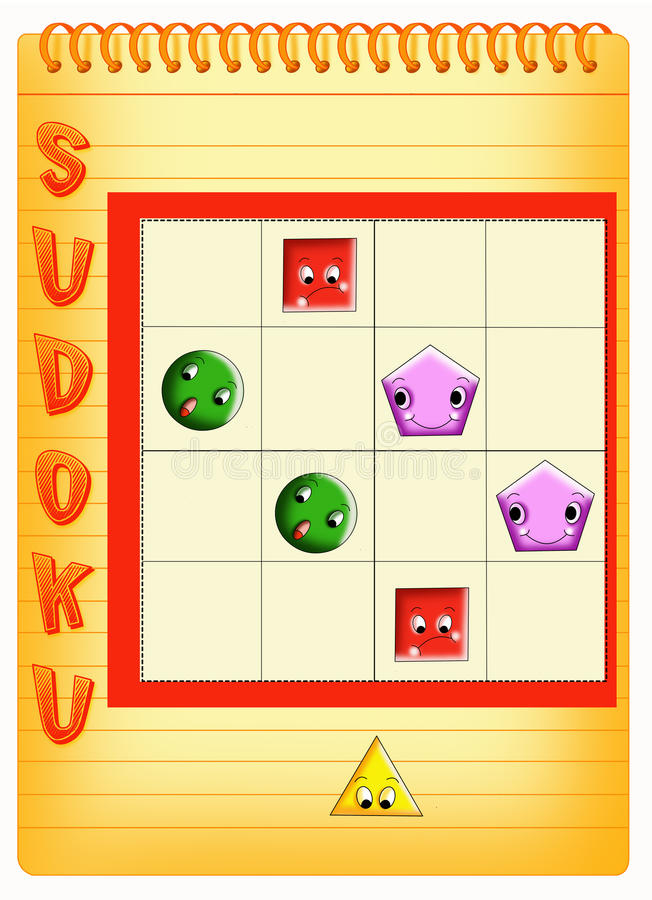Sudoku 6 stock photos