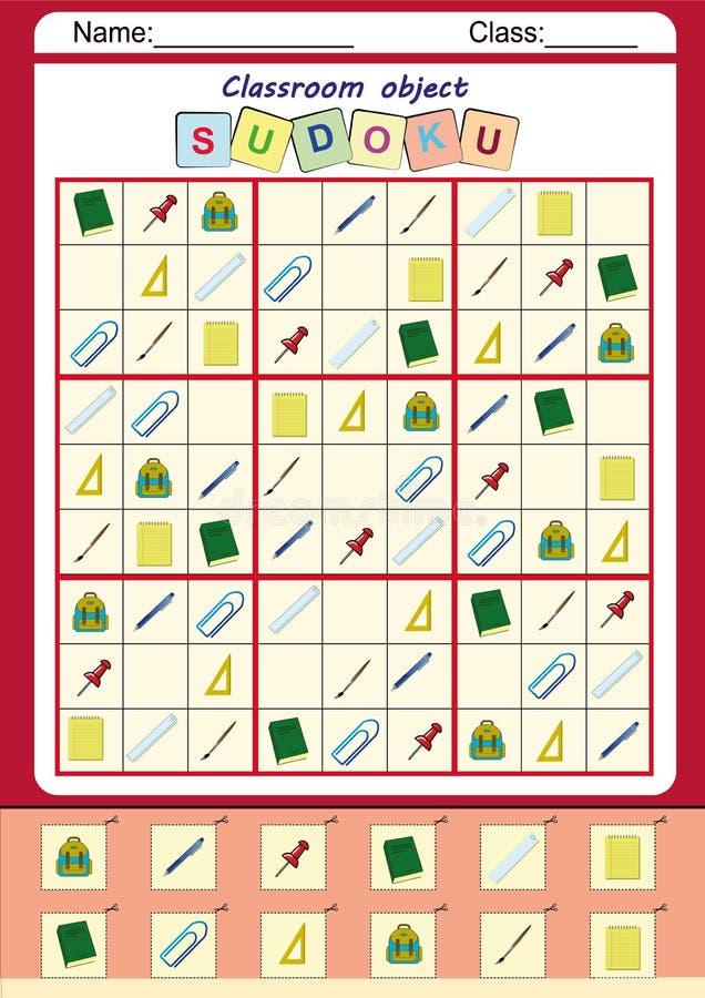 Sudoku Divertido Para Los Niños, Hoja De Trabajo Colorida De La ...