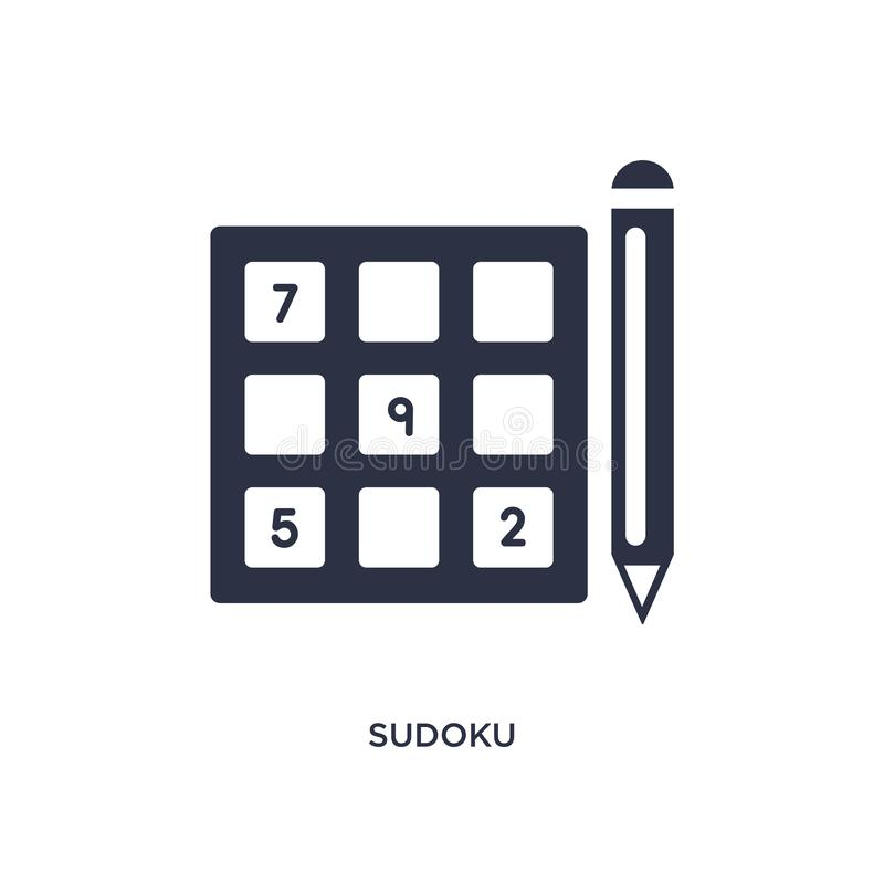 sudoku icon on white background. Simple element illustration from free time concept vector illustration