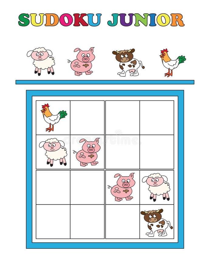 Sudoku junior stock illustrationer