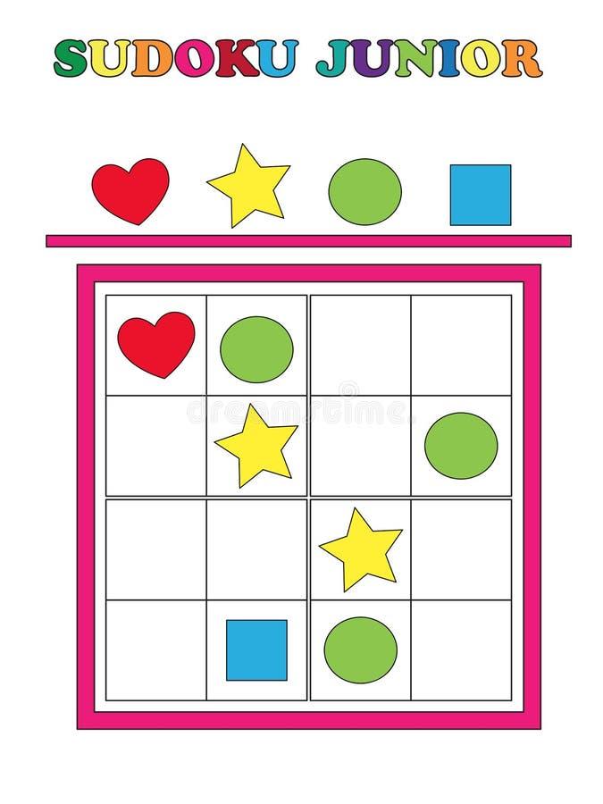 Sudoku junior vektor illustrationer