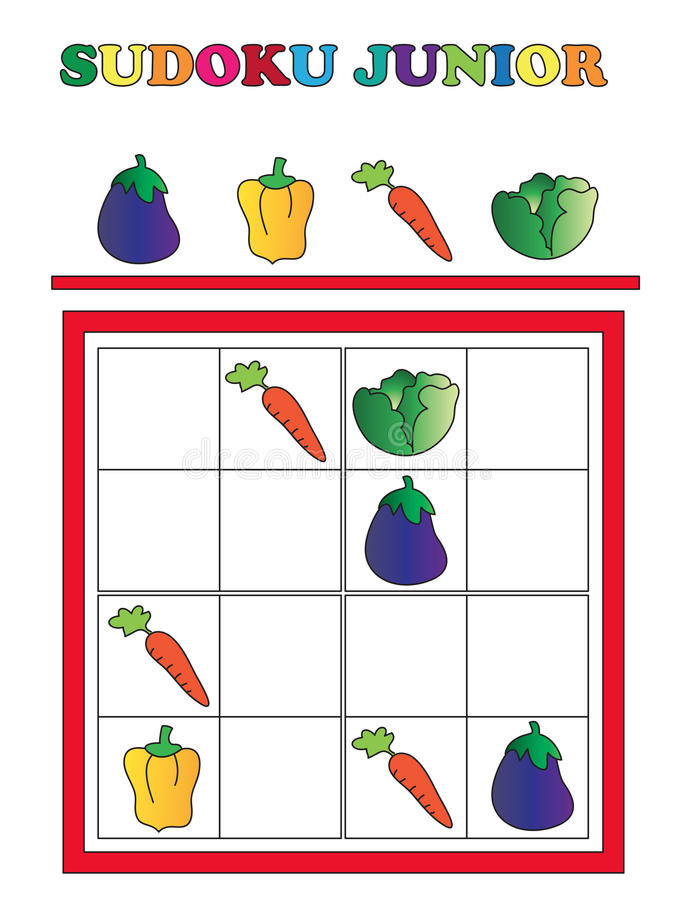 Sudoku junior stock photography