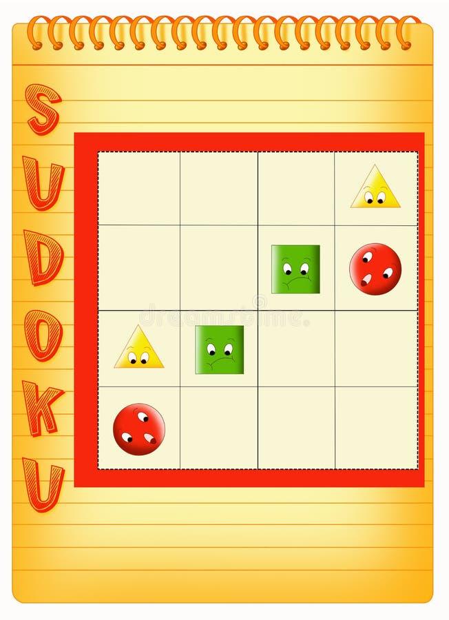 Sudoku para los cabritos ilustración del vector