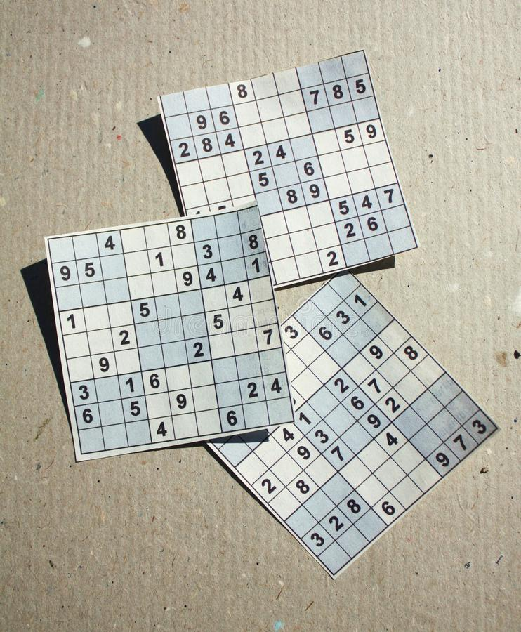 Download Sudoku puzzle stock image. Image of numbers, grey, hard - 16167877