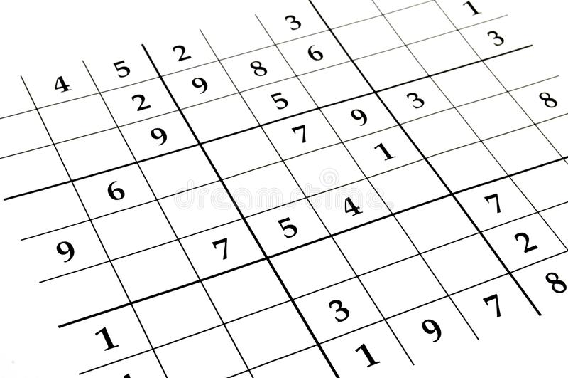 Sudoku Spiel stockfoto