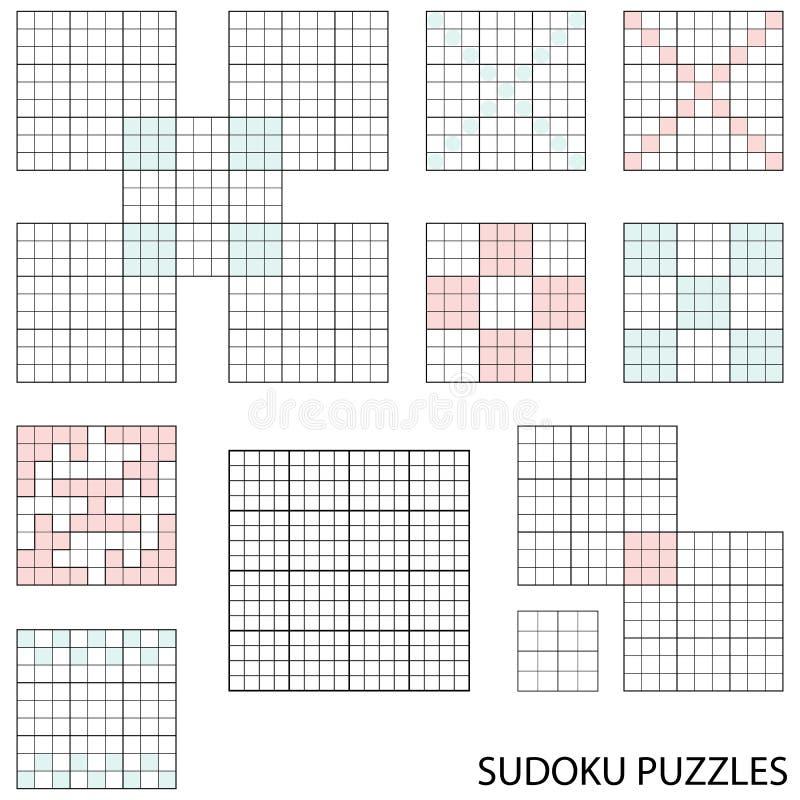 sudoku szablony ilustracji