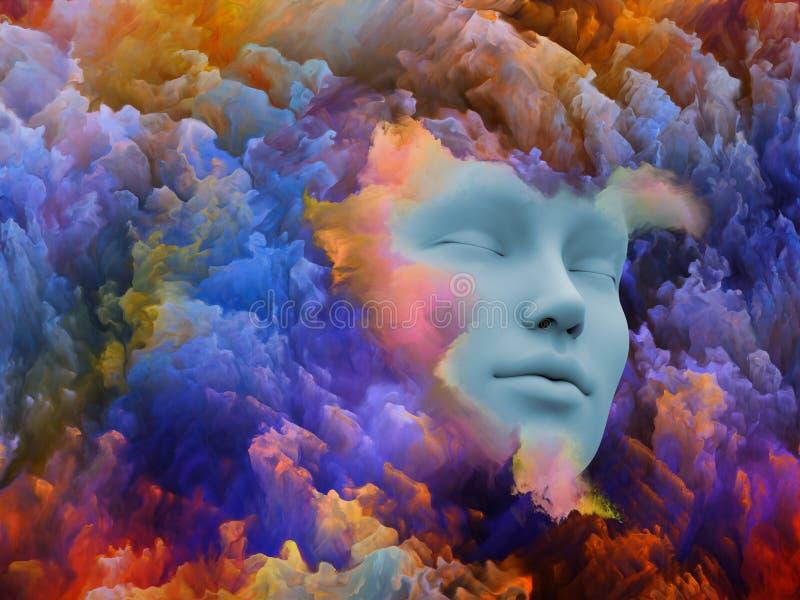 Sueño colorido ilustración del vector