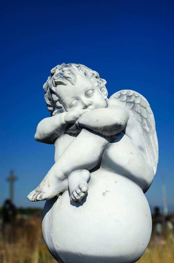 Sueño de ángeles de la nieve fotos de archivo libres de regalías
