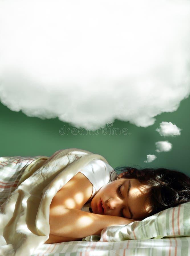 Sueño de la muchacha fotos de archivo libres de regalías