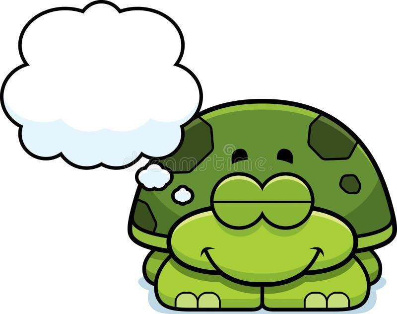 Sueño de la pequeña tortuga ilustración del vector