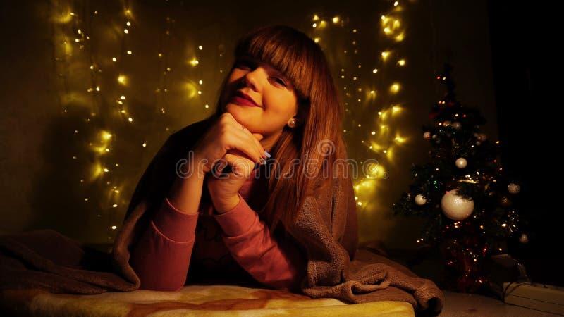 Sueño de la señora en Noche Vieja foto de archivo libre de regalías