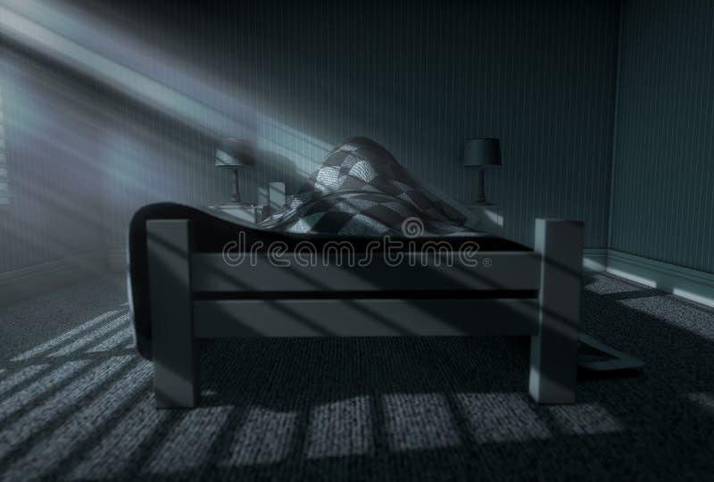 Sueño del claro de luna adentro stock de ilustración
