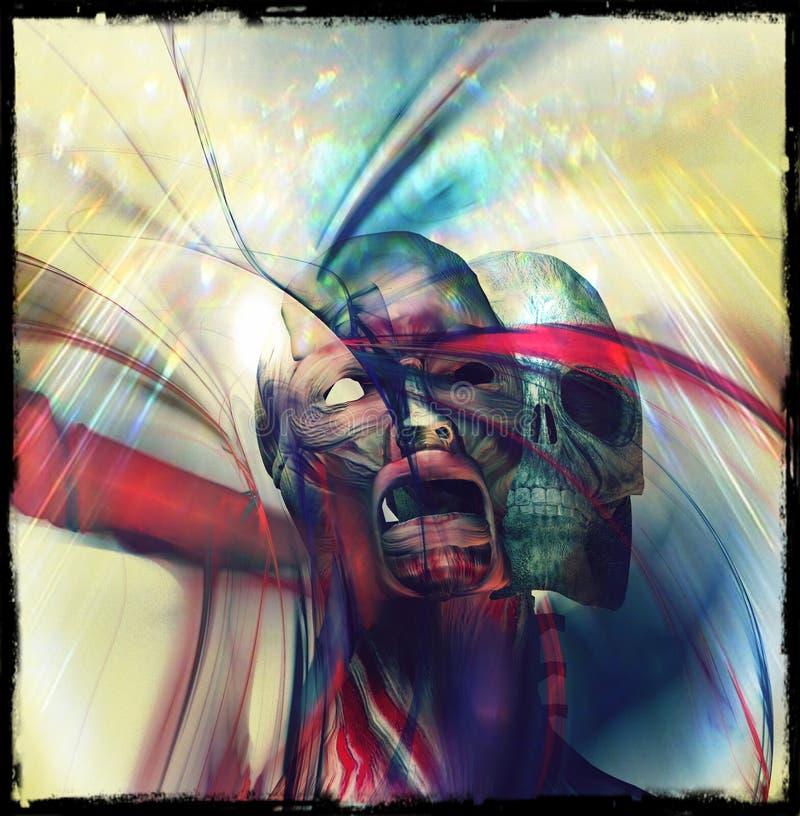 Sueño del cráneo fotos de archivo