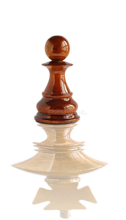 Sueño del empeño del ajedrez a hacer un rey fotos de archivo