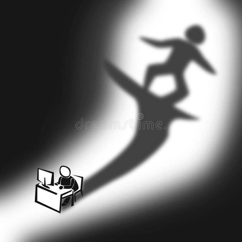 Sueño del hombre de la oficina libre illustration