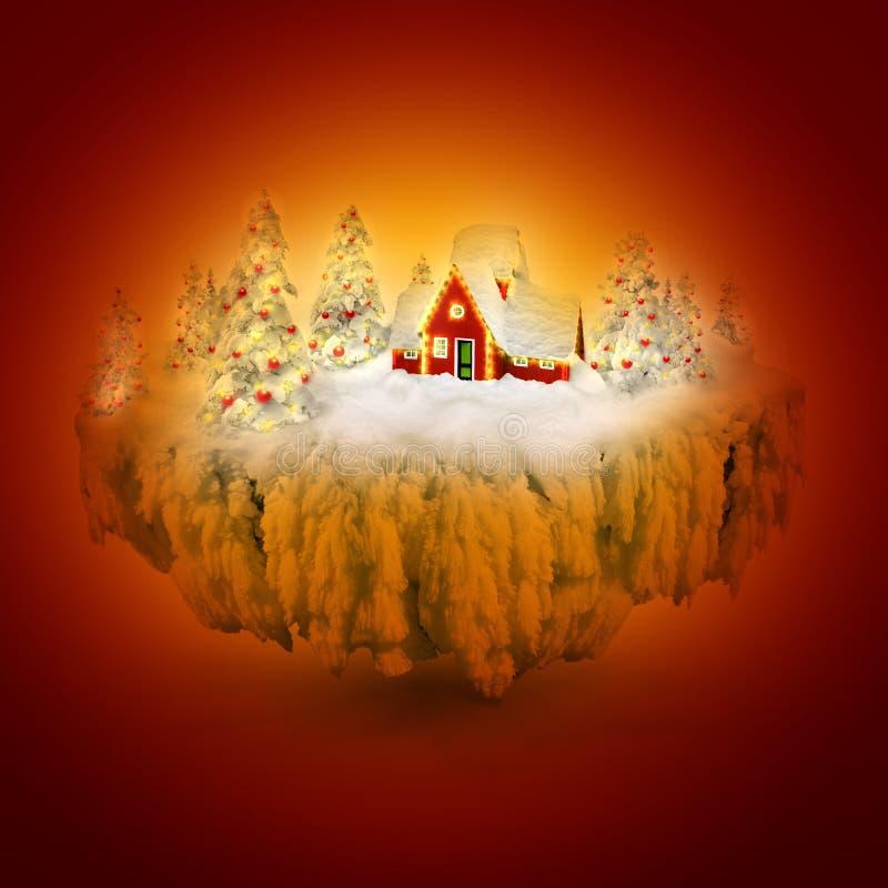 Sueño del invierno ilustración del vector