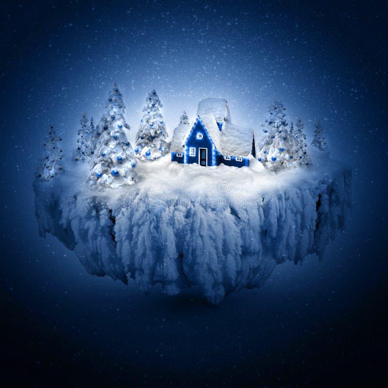 Sueño del invierno stock de ilustración