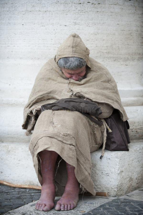 Sueño franciscano del hombre fotos de archivo