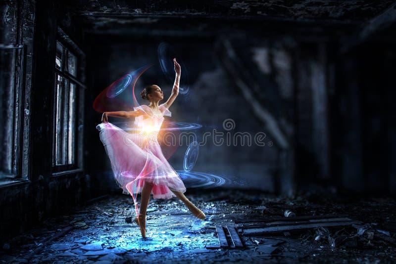 Sueño a hacer bailarina Técnicas mixtas fotografía de archivo