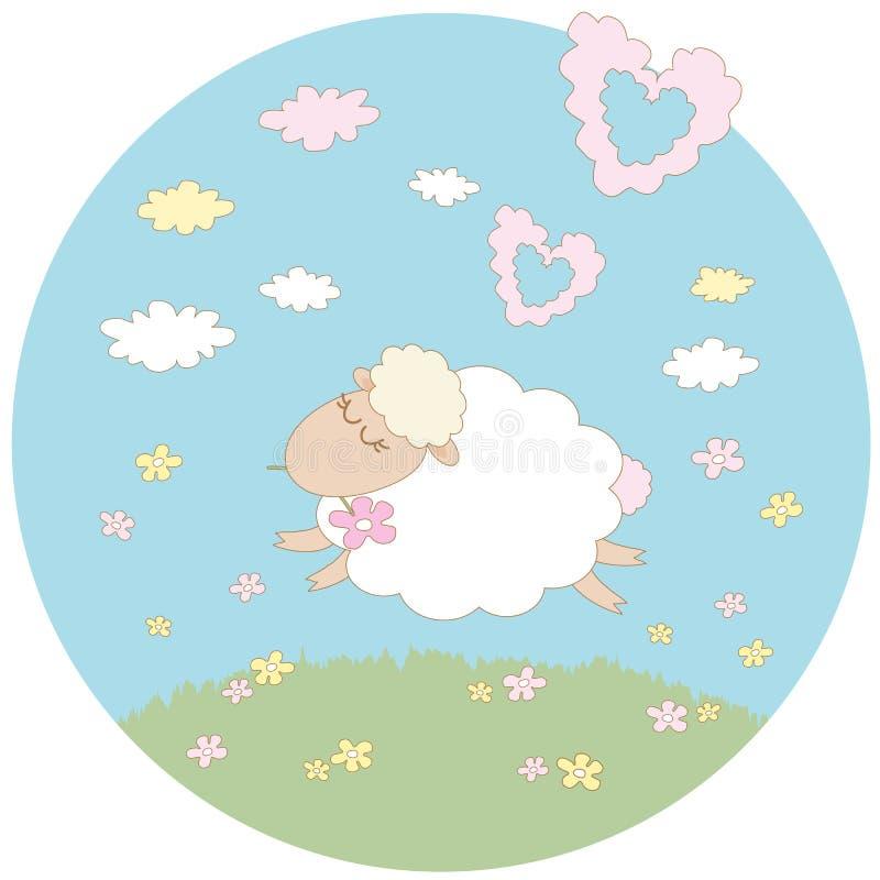 Sueño para un cordero blanco libre illustration