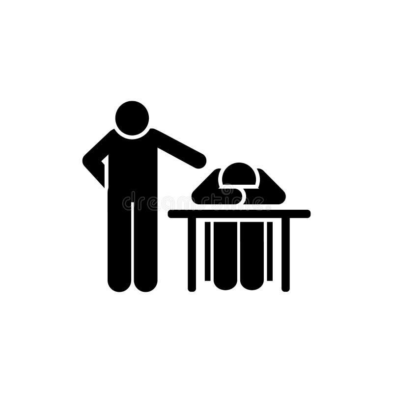 Sueño, profesor, estudiante, icono de la sala de clase Elemento del icono del pictograma de la educaci?n Icono superior del dise? stock de ilustración