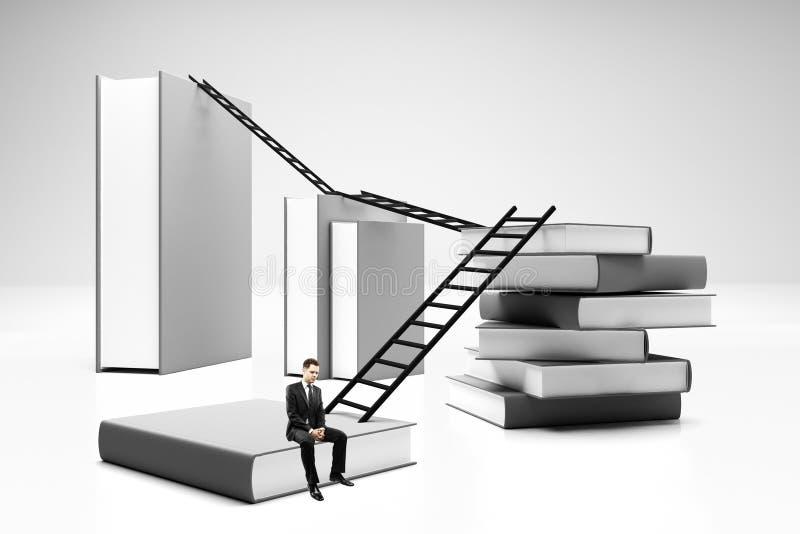Sueño y concepto del éxito stock de ilustración