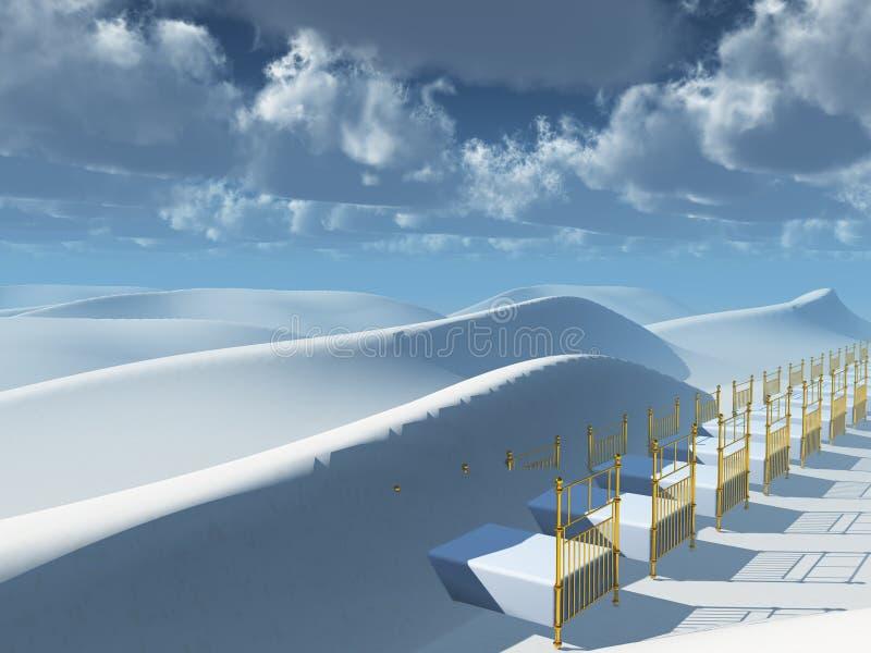 Sueños de las dunas stock de ilustración