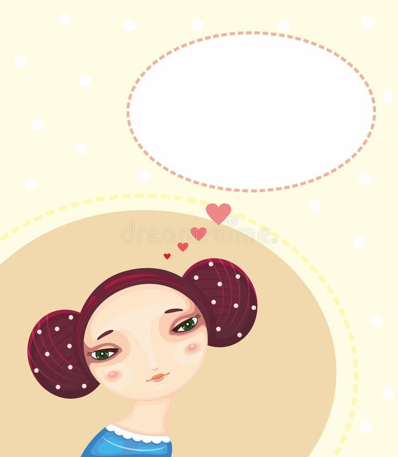 Sueños del amor ilustración del vector