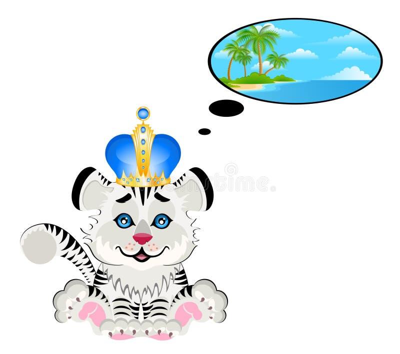 Sueños del tigre sobre la naturaleza stock de ilustración