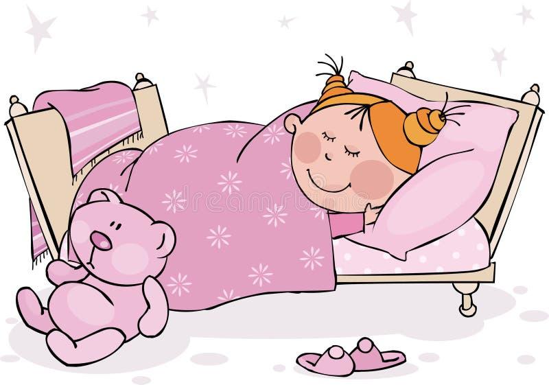 Sueños dulces stock de ilustración
