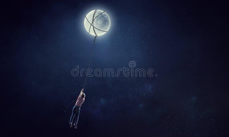 Sueños dulces infantiles Técnicas mixtas imagenes de archivo