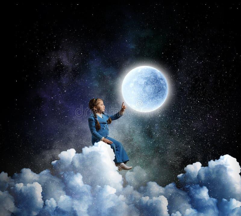 Sueños dulces infantiles Técnicas mixtas fotografía de archivo