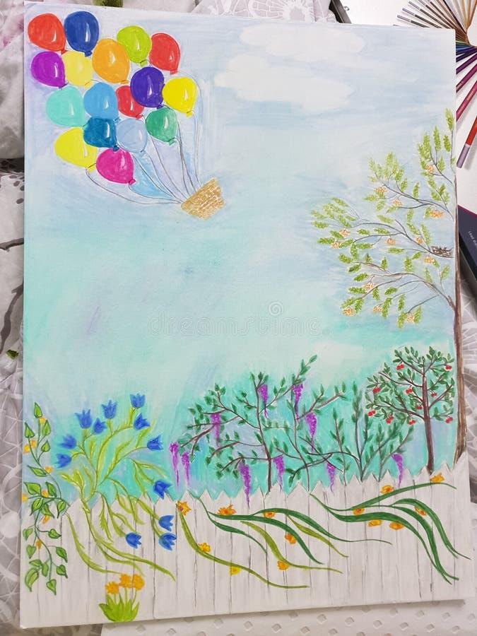 Sueños en colores pastel imagen de archivo